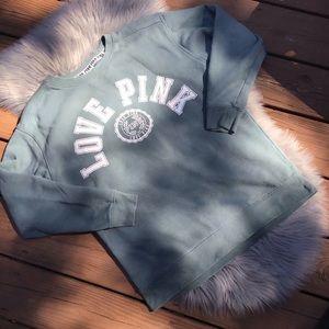 Light green PINK sweatshirt